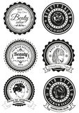 Set of badges for beauty and haidressing salons Royalty Free Stock Image