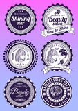 Set of badges for beauty and haidressing salons Stock Image