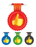 Set of badges with best choice signs. In different colors -  illustration Royalty Free Stock Photo
