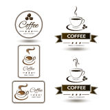 Set of badges coffee cup drink Stock Photos