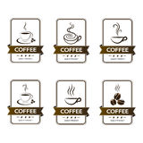 Set of badges coffee cup drink Stock Image