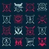 Set  badges cricket Stock Photography
