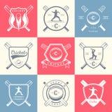 Set  badges cricket Royalty Free Stock Photos