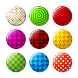 Set of badges with different patterns Royalty Free Stock Photo