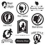 Set of badges and emblems for beauty or Royalty Free Stock Photo