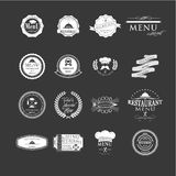 Set of badges and labels elements for restaurant Stock Photos