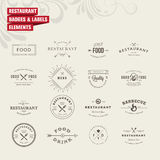 Set of badges and labels elements for restaurant Royalty Free Stock Photo