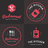Set of badges, labels and logos for food restaurant, foods shop and catering. Royalty Free Stock Photography