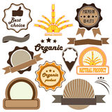 Set of  badges and labels of quality Stock Images