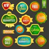 Set of badges and labels stock illustration