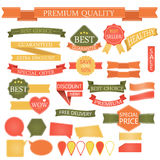 Set of badges labels Stamps Ribbon Vector Royalty Free Stock Image