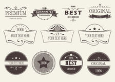 Set of  badges and labels. Set of badges and stickers on a light background Royalty Free Stock Photos