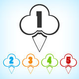 Set of badges with numbering Royalty Free Stock Photography