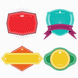 Set of badges ribbons and labels set 15. Set of badges ribbons,banner and labels .eps10 stock illustration