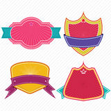 Set of badges ribbons and labels set 11 Stock Images