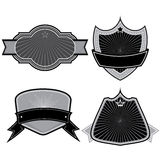 Set of badges ribbons and labels set 11 Royalty Free Stock Images