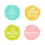 Set of badges. Smoothie, summer special. Royalty Free Stock Photo