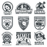 Set of badges space. vector illustration