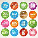 Set of badges and stickers Stock Photography