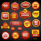 Set of badges and stickers Stock Illustration