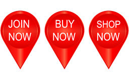 Set of  badges and stickers Royalty Free Stock Photography