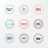 Set of badges, stickers. Vector web elements. Sale. Discount, price Stock Photos