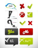 Set of badges with symbols. Stock Photos