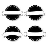 Set of the Badges Templates with Ribbons Royalty Free Stock Images