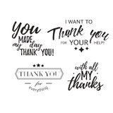Set of badges with thank you graphics and design elements Royalty Free Stock Image