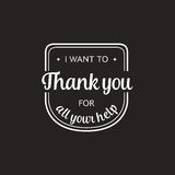 Set of badges with thank you graphics and design elements Royalty Free Stock Photo