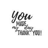 Set of badges with thank you graphics and design elements Royalty Free Stock Images