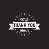 Set of badges with thank you graphics and design elements Royalty Free Stock Photos