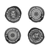 Set of 4 Badges for traditional, authenti or handcrafted products. Set of 4 Badges for traditional  (authentic, handcrafted) products. Original design (stylized Stock Image