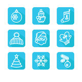 Set with badges - winter Royalty Free Stock Images