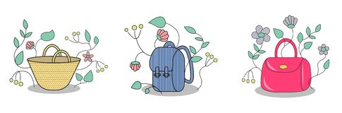 Set of bag illustration stock illustration