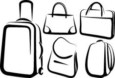 Set of bags Stock Images
