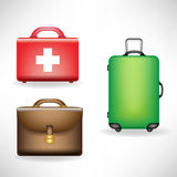 Set of bags Royalty Free Stock Photo