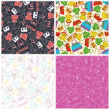 Set of bags seamless pattern background. Vector illustration Stock Photography