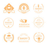 Set of bakery and bread shop logos, labels, badges Royalty Free Stock Photo