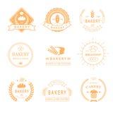 Set of bakery and bread shop logos, labels, badges vector illustration