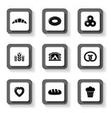 Set of bakery buttons Royalty Free Stock Photo