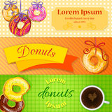 Set of bakery or coffee shop banners, flyers Stock Photo