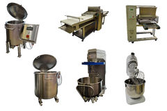 Set of bakery equipment Stock Photos