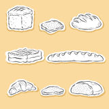 Set of Bakery icons Stock Images