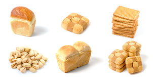 Set of bakery isolated Stock Photos