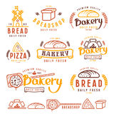 Set of bakery labels, badges, and design elements Stock Photography
