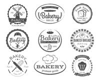 Set of bakery labels, badges and design elements Royalty Free Stock Photos