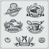 Set of Bakery labels, badges, emblems and design elements. vector illustration