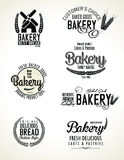 Set of bakery labels Royalty Free Stock Image