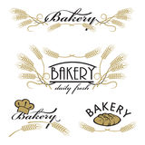 Set of bakery product logos Stock Photos